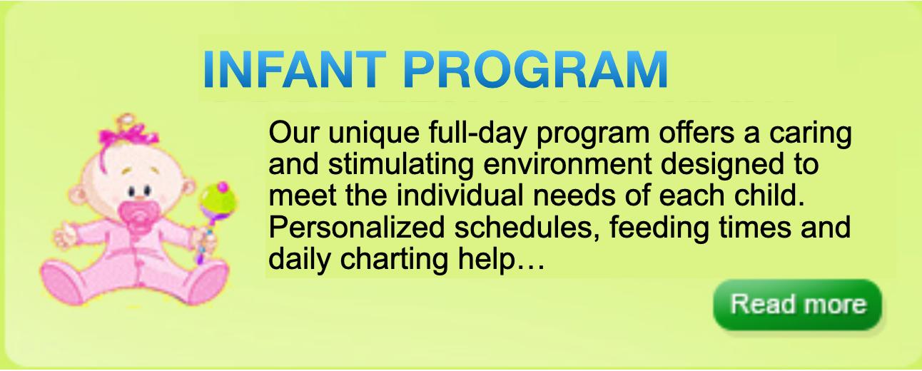 Infant program daycare